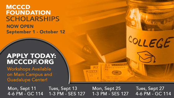 MCCCD Foundation Scholarship Workshops