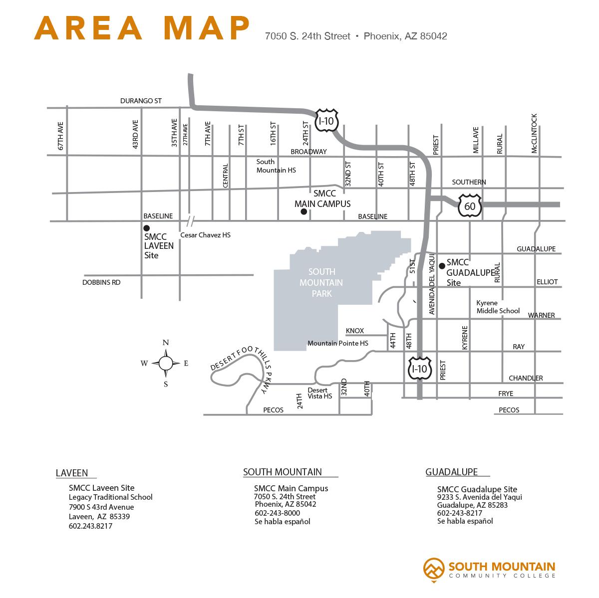 SMCC Area Map