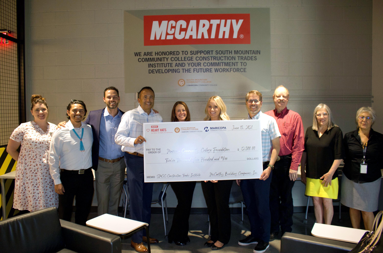 McCarthy Donates $12,500